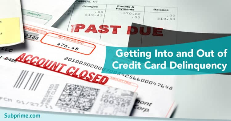 Getting Into and Out of Credit Card Delinquency